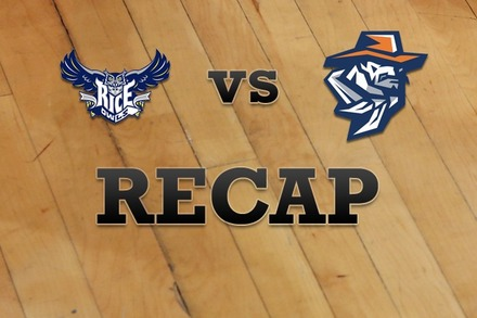 Rice vs. UTEP: Recap and Stats