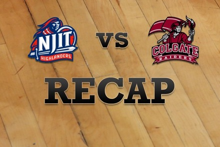 NJIT vs. Colgate: Recap and Stats