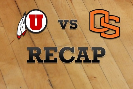 Utah vs. Oregon State: Recap and Stats