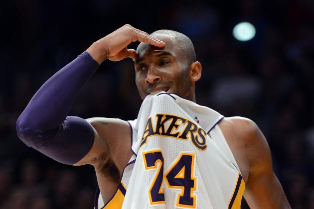 Kobe Tries to Push Lakers Through Frustration