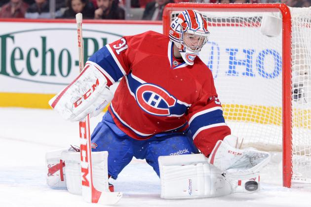 WATCH: Canadiens Goalie Price Takes a Puck to the Groin