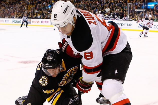 Zubrus out Tonight vs. TB with Upper Body Injury