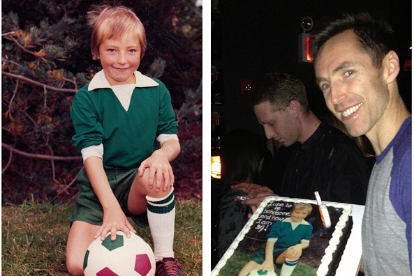 Steve Nash Instagrams a Photo of Himself as a Child on Birthday Cake