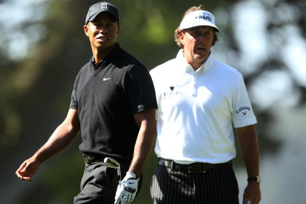Rivalry Between Tiger Woods, Phil Mickelson Won't Continue at Pebble Beach