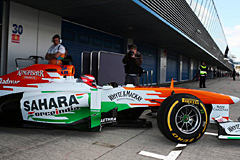 Force India Mechanic Escapes Serious Injury After Rossiter Incident