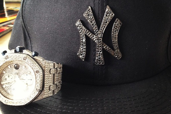 Instagram: 50 Cent's Black Diamond Yankee Hat