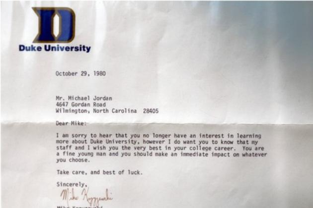 Michael Jordan Could Have Been a Dukie? Check Coach K's Letter to a Young MJ