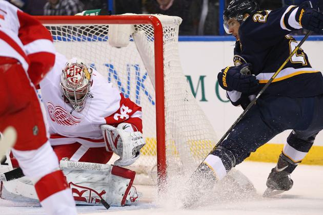 Mrazek Shines in Debut as Wings Top Blues