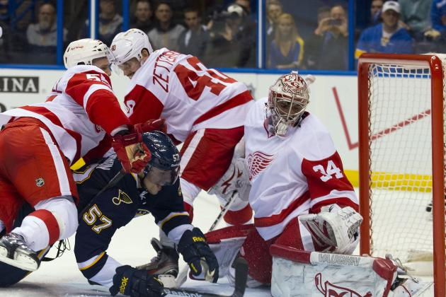 Wings' Rookie Goalie Mrazek Keeps Up Amazing Feats as He Wins in NHL Debut