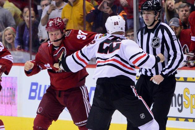 Blackhawks Fight Raffi Torres Minutes into Game