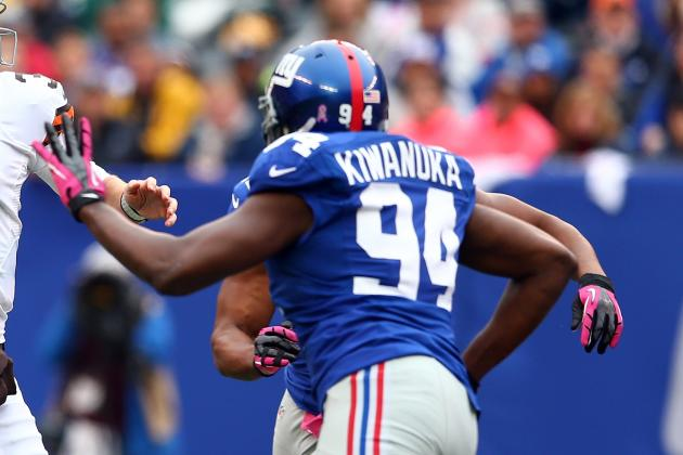 Kiwanuka 'Surprised' at Giants Cutting Bradshaw, Boley, Canty