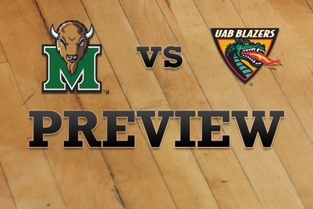 Marshall vs. UAB: Full Game Preview