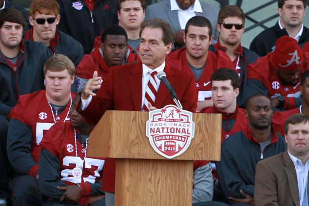 Watch Alabama Coach Nick Saban's Full National Signing Day Press Conference