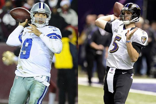 Would You Rather...Tony Romo or Joe Flacco as Your Starting Quarterback?
