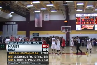 Shot of the Year? Chavaughn Lewis's 65-Footer Saves Marist (VIDEO)