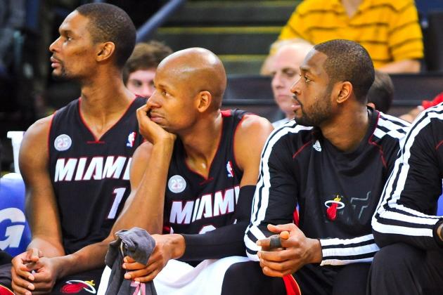 Dwyane Wade, Ray Allen and Chris Bosh Could All Miss Game with the Flu