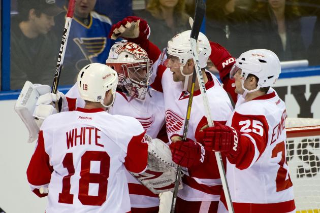 Wings Impressed with Rookie Petr Mrazek in NHL Debut, a 5-1 Victory in St. Louis
