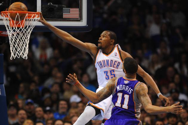 Kevin Durant Throws Down Sick Dunk over Markieff Morris (Video)
