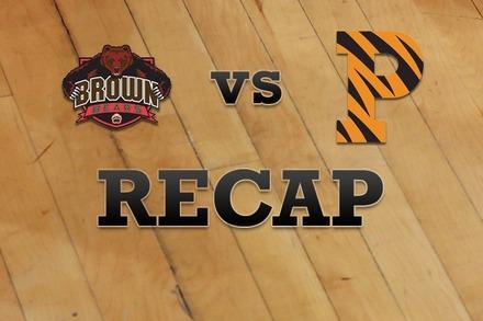 Brown vs. Princeton: Recap, Stats, and Box Score