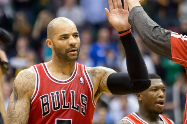 NBA: Carlos Boozer sparks Chicago's rally vs. Utah