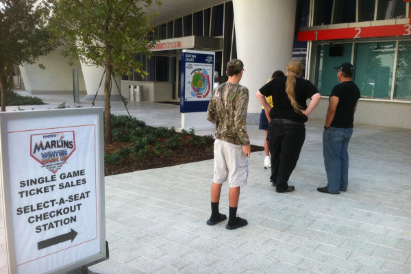 The Line for Marlins Tickets Is Short, but Distinguished
