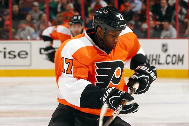 Wayne Simmonds Back in Flyers Lineup This Afternoon