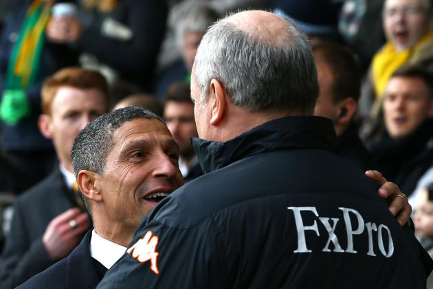 Chris Hughton Feels Norwich Heading in Right Direction After Fulham Draw