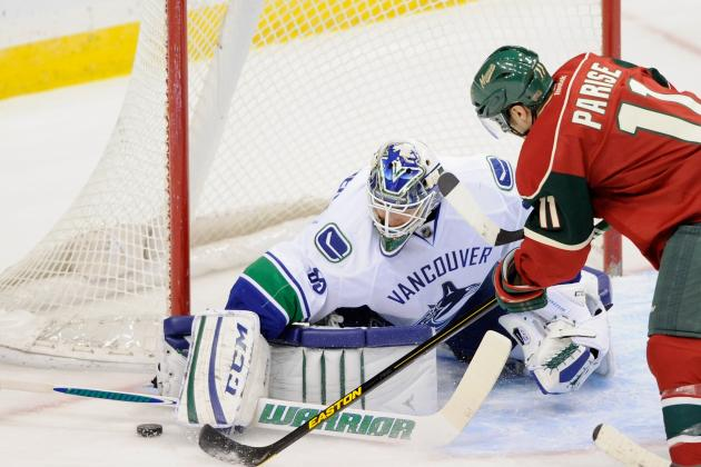 Cory Schneider in Net for 2nd Straight Game vs. Flames