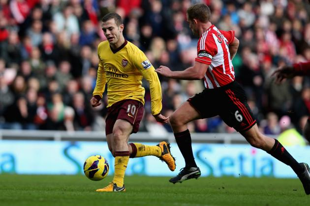 Sunderland vs. Arsenal: Gunners' UCL Hopes Rest on Jack Wilshere's Injury