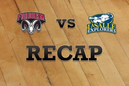 Fordham vs. La Salle: Recap, Stats, and Box Score