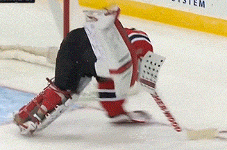 Video: Martin Brodeur Takes a Spill on the Ice