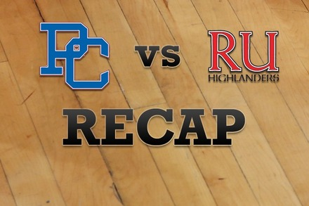Presbyterian vs. Radford: Recap, Stats, and Box Score