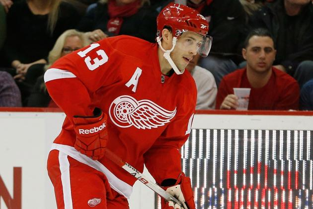 Datsyuk Leads Red Wings Past Slumping Oilers