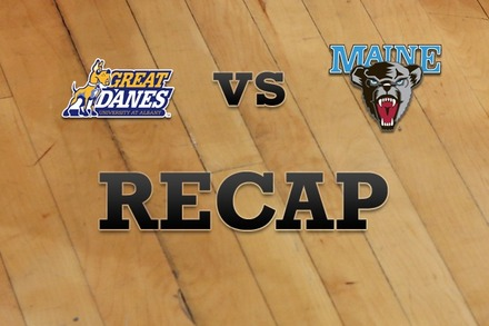 Albany vs. Maine: Recap, Stats, and Box Score