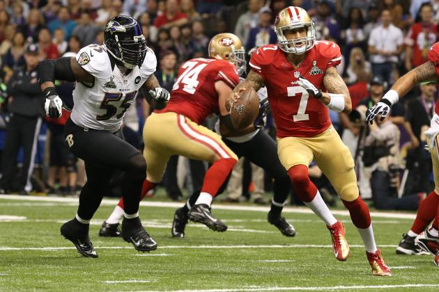 Colin Kaepernick: Why Terrell Suggs' Praise of 49ers Quarterback Is Spot on