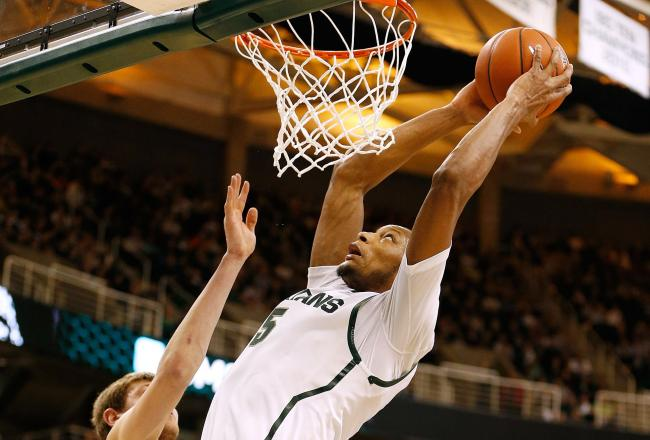 Adreian Payne is known for his dunks, but he can shoot the ball, too.