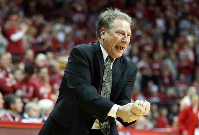 Tom Izzo's Spartans are in first place in the Big Ten.