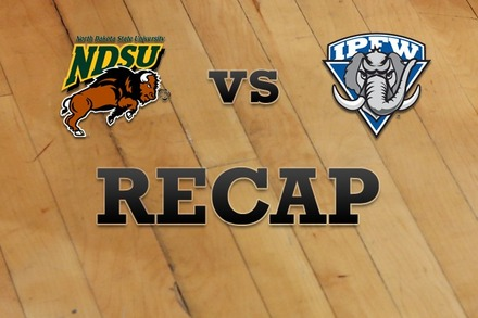North Dakota State vs. IPFW: Recap, Stats, and Box Score