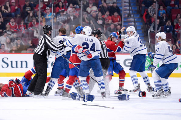 Leafs' Rout of Habs Turns into Melee;  Orr One-Punches Bourque