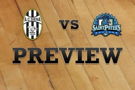 Siena vs. St. Peter's: Full Game Preview