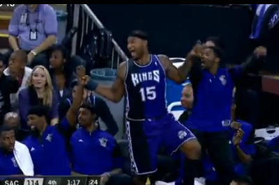 DeMarcus Cousins Joins in on 'the Wave' in Sacramento