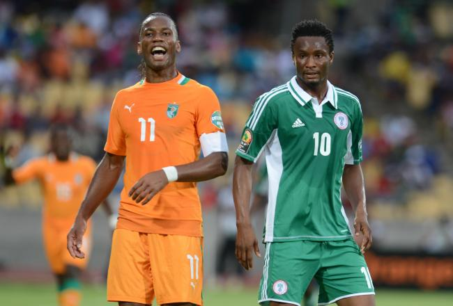John Obi Miek (right) was the best player at this Cup of Nations.