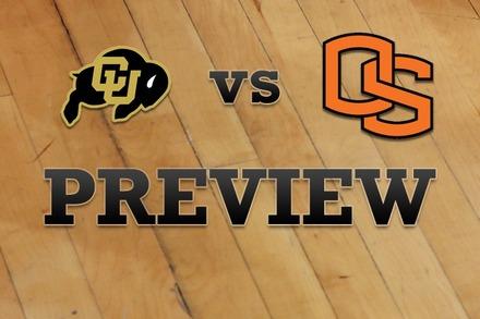 Colorado vs. Oregon State: Full Game Preview