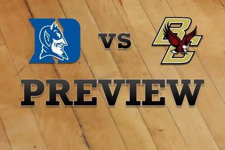 Duke vs. Boston College: Full Game Preview