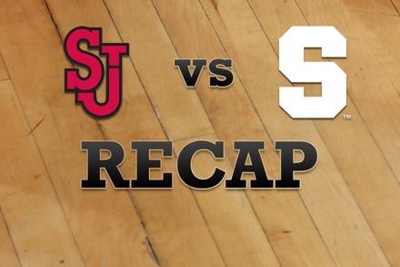 St John's vs. Syracuse: Recap, Stats, and Box Score