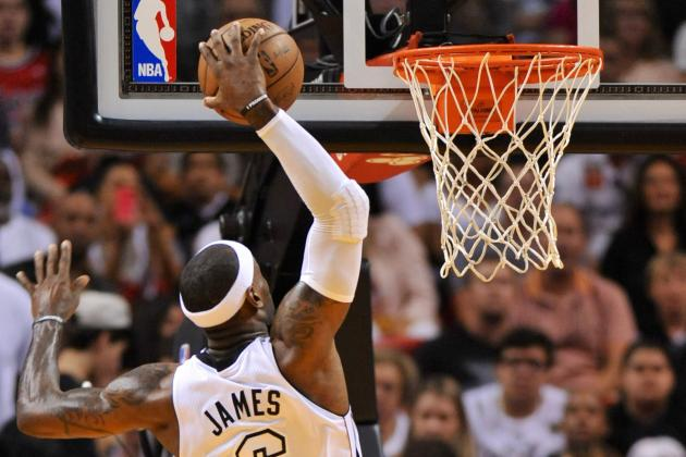VIDEO: LeBron James Skies to Finish an Oop Against the Lakers