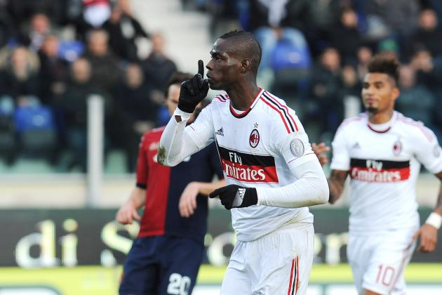 Rating Mario Balotelli's Performance for AC Milan vs. Udinese