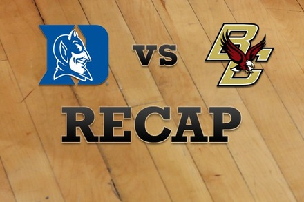 Duke vs. Boston College: Recap, Stats, and Box Score
