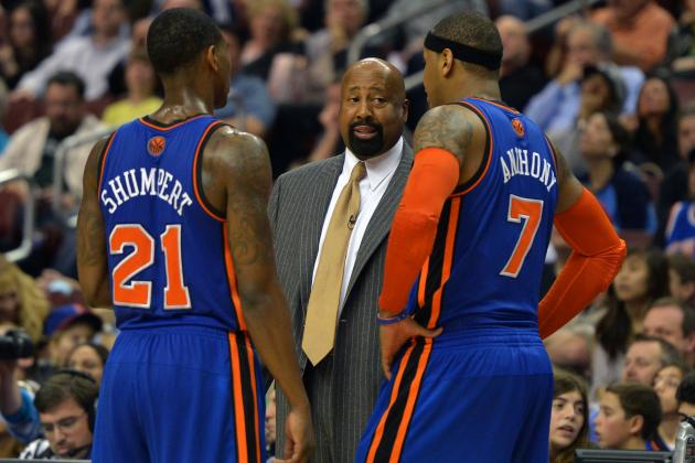 Knicks Trade Rumors: 'Melo, Mike Woodson Wisely Jump to Iman Shumpert's Defense