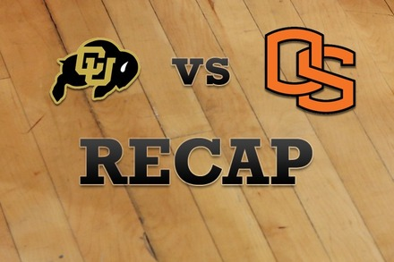 Colorado vs. Oregon State: Recap, Stats, and Box Score